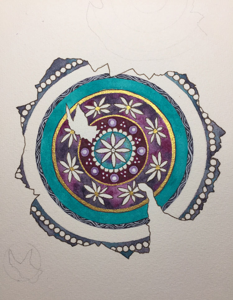 Fractured illuminated mandala - a work in progress